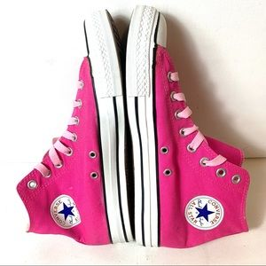 Converse Chuck Taylor All Star Mens Size 9 Pink High Top Canvas Sneaker Lace Up